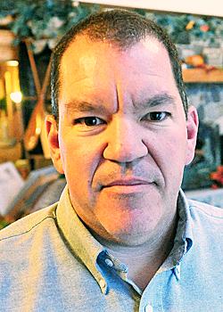 Matt St.Laurant sales manager at Mooshead Cedar Log Homes Greenville. (Bangor Daily News/