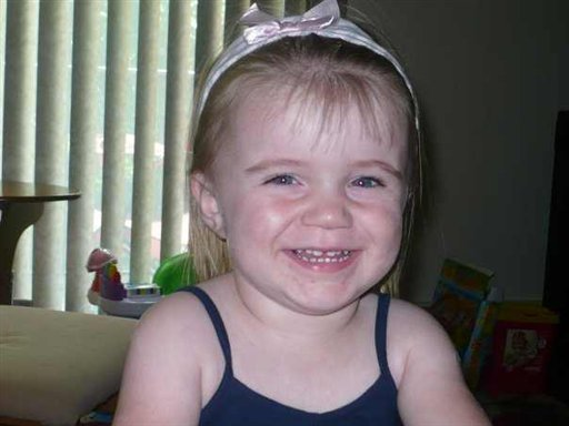 This undated photo provided by Maine Department of Public Safety shows Hailey Traynham. Maine police have issued the state's first Amber Alert Monday Nov. 9, 2009 for missing 2-year-old  Hailey Traynham who was taken by her father  38-year-old Gary Traynham , after he allegedly assaulted the girl's mother at her Sanford, Maine apartment. (AP Photo/Maine Department of Public Safety)