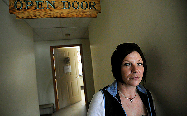 Lori King of Mariaville was in the rehabilitation program at the Open Door Recovery Center in Ellsworth in 2003.  The center recently lost about a third of it's funding due to the economic recession. (Bangor Daily News/Gabor Degre)