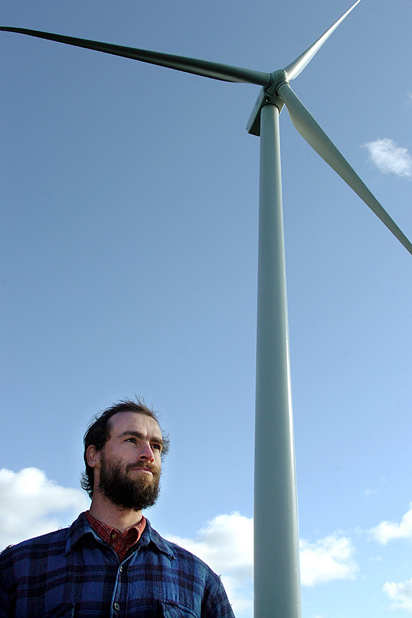 &quotI feel the pulse from the turbines. I've never before encountered anything in my life like this,&quot said Ethan Hall, a 12th generation islander, of living near the Fox Islands Wind turbines on Vinalhaven on Tuesday, Nov. 17, 2009. (Bangor Daily News/Bridget Brown)