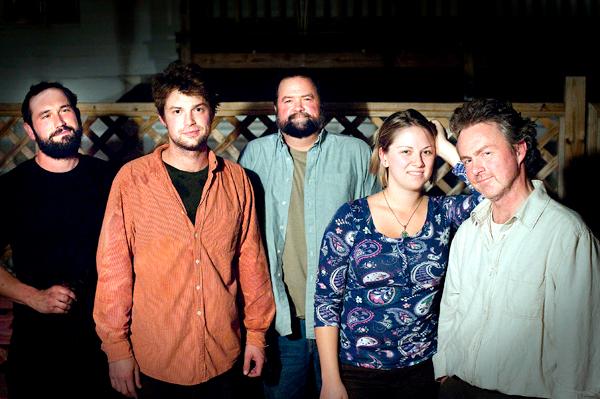 Travis Lloyd Band - from l-r - Cody Tibbets, Travis Lloyd, Russ Lloyd, Emily Newell, John Atwater