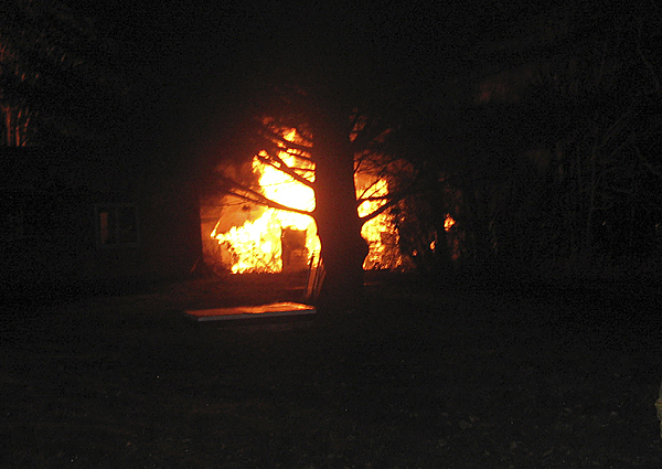PHOTOS COURTESY OF THE MEDWAY FIRE DEPARTMENT When Medway firefighters arrived at about 3:50 a.m. Thursday, the long-abandoned house at 157 Pattagumpus Road was burning heavily. The fire has been ruled an arson, one of four in Medway that authorities are aware of.