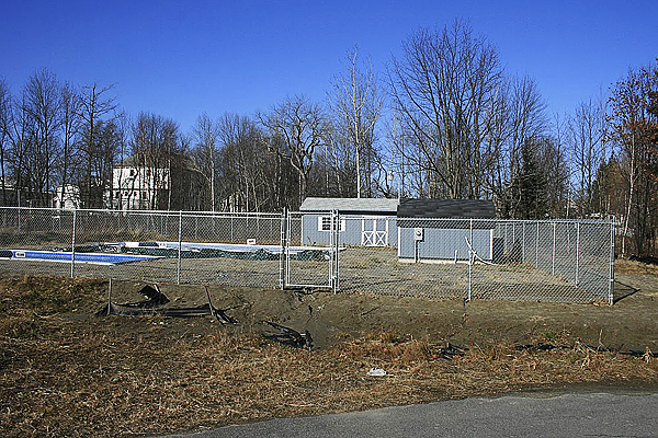 The unfinished Hartland community pool.  PHOTO COURTESY OF JOHN CLARK