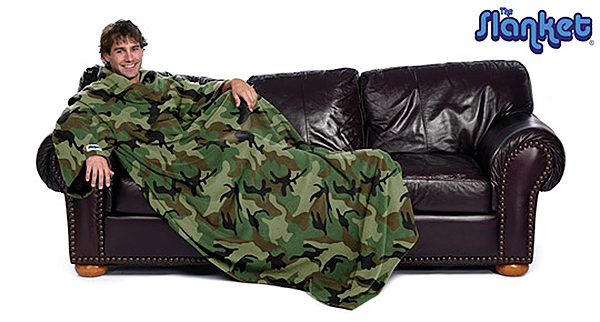 The Camo Slanket photograph from  theslanket.com  website