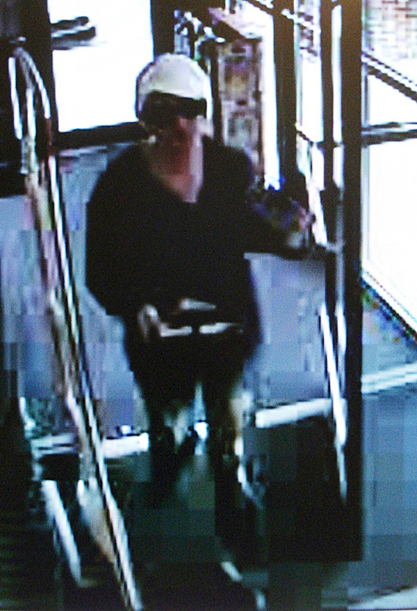 A surveillance photo of a female subject that used a stolen credit cards at retail locations to purchase approximately $5,000 of merchandise from multiple retail locations in Bangor including Dicks Sporting Goods, Sears and Roebuck, Wal-Mart, Rite Aid, Staples, Toys R Us, Footlocker, Journey?s Shoe Store, and Pacific Sun.purchases. She was also operating a late model forest green minivan. 