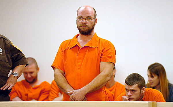 Douglas Deloge, 39, of Medway made his first appearance before Judge Jessie Gunther on Monday, Nov. 23, 2009 at the Penobscot Judicial Center on the first day the center was open for business. Deloge is charged with setting fire last week to an abandoned house.