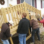 Vocational students build home for longtime volunteer in Presque Isle