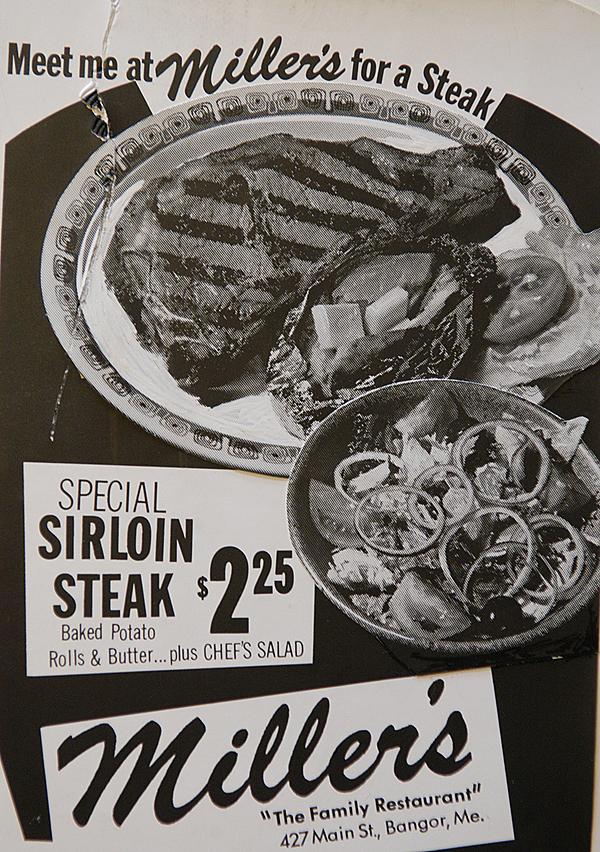 Miller's-AD-JCR.jpg An old black & white advertisement for Miller's Restaurant circa 1960's. courtesy of the Miller family.