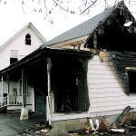 Everyone escaped safely from a blaze that started in the garage of this home Sunday, November 29, 2009 at 58 North Road in Detroit.