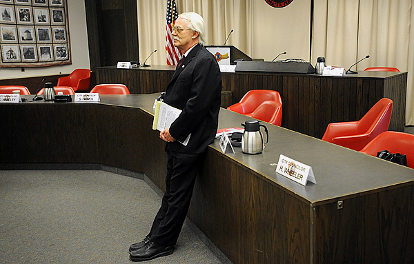 Long time Bangor City Manager Ed Barrett announce his retirement after serving the city for 22 years.  The 62-year-old Barrett will stay in his position until April 30 2010. (Bangor Daily News/Gabor Degre)