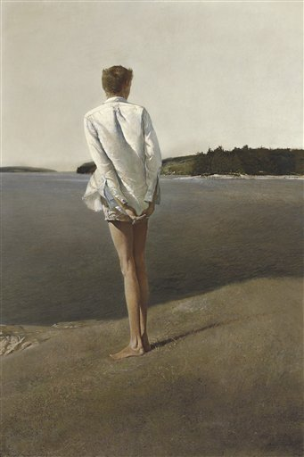 ** ADDS DETAILS FROM AUCTION ** This image provided by Christie's shows a 1960  painting by Andrew Wyeth titled &quotAbove the Narrows.&quot  Setting the second-highest auction price for the artist's work, the painting sold in New York on Wednesday Dec. 2, 2009 for over $6.9 million to a European collector at Christie's sale of American art that featured three generations of Wyeth artworks. (AP Photo/Christie's) NO SALES