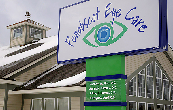 The newly-relocated Penobscot Eye Care at 29 Dirigo Drive in Brewer. The eye care business opened there on December 2, 2009--two months ahead of schedule, they said. (Bangor Daily News/John Clarke Russ)