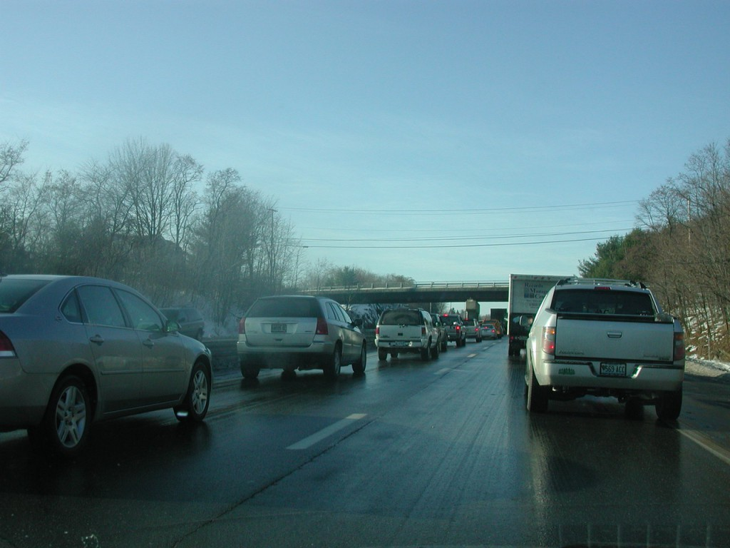 Photo by Heather Steeves, traffic backup on 95 at mile 185.