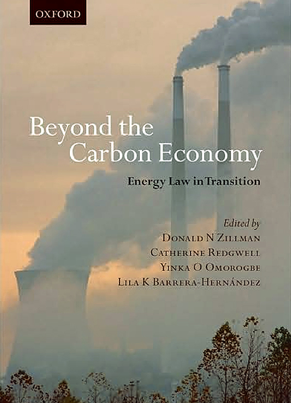 cover for for the book &quot Beyond the Carbon Economy&quot which was co-edited by University of Maine at Presque Isle president Don Zillman.