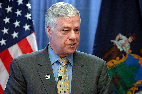 Congressman Michael Michaud speaks at at press conference Thursday, Dec. 17, 2009 at the University of Maine Orono campus, which was also attended by U.S. Commerce Secretary Gary Locke who announced a $25.4 million Recovery Act investment to help bring broadband Internet to rural Maine.