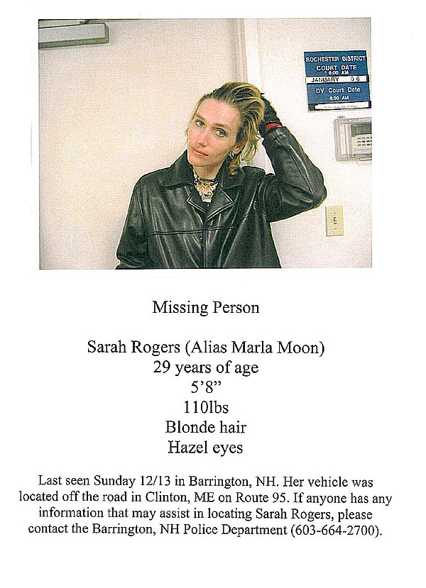 Sarah Rogers, missing. COUSINS STORY