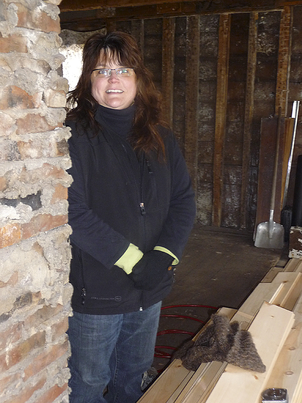 Wanda Corey has found dozens of items tucked under floors and in the walls of the former Lubec Water and Light Company, which she is renovating into a restaurant and gift shop, including buttons, shoes from the 1800s, button hooks, lobster trap sewing needles and letters. &quotThese discoveries make me want to connect with Lubec's past,'' Corey said. BANGOR DAILY NEWS PHOTO BY SHARON KILEY MACK