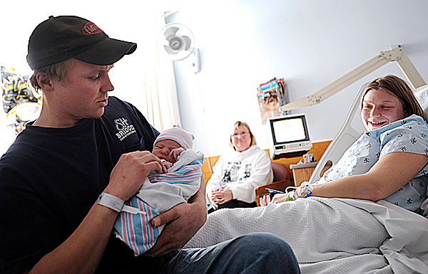 Families welcome new additions on New Year's Day