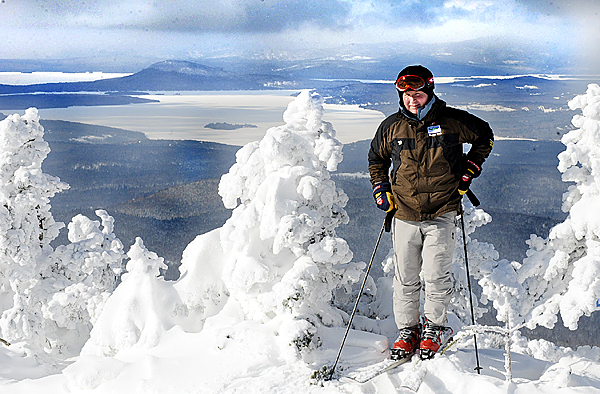 Former Saddleback Ski Resort General Manager Warren Cook stands at the top of a section of the mountain in January 2010. The ski resort will open for the season on Saturday.