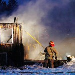 Fire destroys outbuilding in Washington