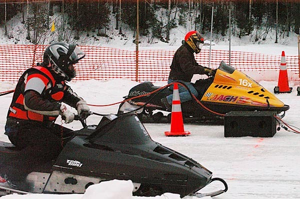 Eighty-three drag racers graced the inaugural Maine Snowmobile Drag Racing Association races at the East Branch Sno-Rovers Club in Medway on Sunday, a first effort that impressed volunteer organizers intent on making Medway one of New England?s premiere spots for snowmobile drag races. BANGOR DAILY NEWS PHOTO BY NICK SAMBIDES JR.