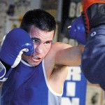 STOCKTON SPRINGS, ME -- JANUARY 4, 2010 -- Boxer Josh McAuliffe, who trains with Ken Wyman at Wyman's Boxing Club in Stockton Springs, is going pro. LINDA COAN O'KRESIK