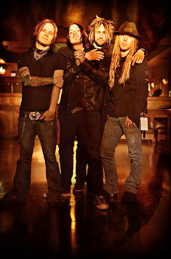 Photo by DAVID BERGMAN / www.DavidBergman.net -- The band SHINEDOWN poses for a portrait at the Starland Ballroom in Sayreville, NJ on December 11, 2008.