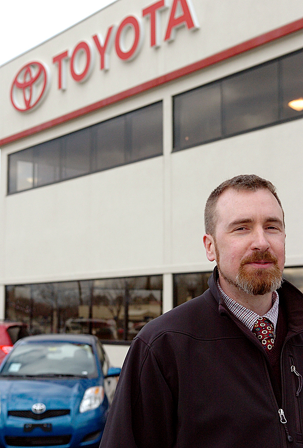 &quotWe've got more than half our cars that are still for sale,&quot said Down East Toyota General Manager Kevin Kelly on Wednesday, Jan. 27, 2010 in Brewer. Kelly estimated about 35 percent of the dealership's stock of vehicles were affected by the sales suspension. BANGOR DAILY NEWS PHOTO BY BRIDGET BROWN