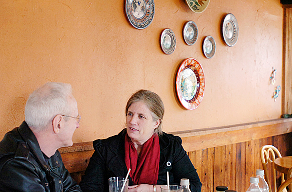 &quotWe love this place,&quot agreed Tim and Boo Upton of Orland as they dined at the original Pepino's restaurant in Brewer on Tuesday, Jan. 26, 2010. The couple said they'd been coming to the restaurant since it opened over 30 years ago.    BANGOR DAILY NEWS PHOTO BY BRIDGET BROWN