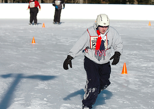Jake Ring of Bangor competes in a skating event at the Special Olympics Maine Winter Games at Sugarloaf in Carrabasset Valley on Monday, Feb. 1, 2010. Olympians also competed in snowshoeing and skiing races at the 41st annual event. BANGOR DAILY NEWS PHOTO BY BRIDGET BROWN