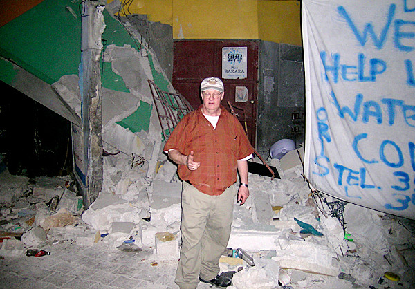 Dr. Bob Chagrasulis in undated Haiti scene, post-earthquake. (Photo courtesy of  Bob Chagrasulis) GOES WITH MEG HASKELL STORY.