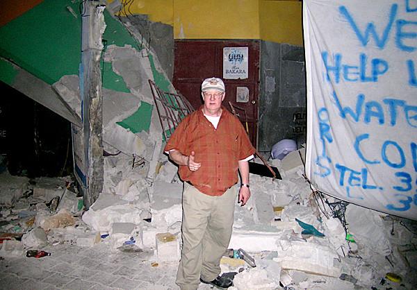 Dr. Bob Chagrasulis in undated Haiti scene, post-earthquake. (Photo courtesy of  Bob Chagrasulis) GOES WITH MEG HASKELL STORY.