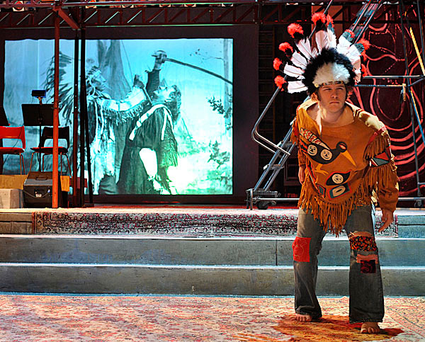 Scene from Claude's halucination in the musical 'Hair'. BANGOR DAILY NEWS PHOTO BY MICHAEL C. YORK