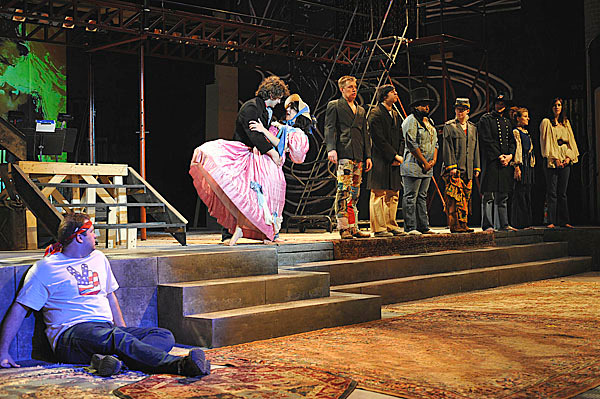 Cast of 'Hair' during scene from Claude's halucination, Saturday, Feb. 7, 2010. BANGOR DAILY NEWS PHOTO BY MICHAEL C. YORK