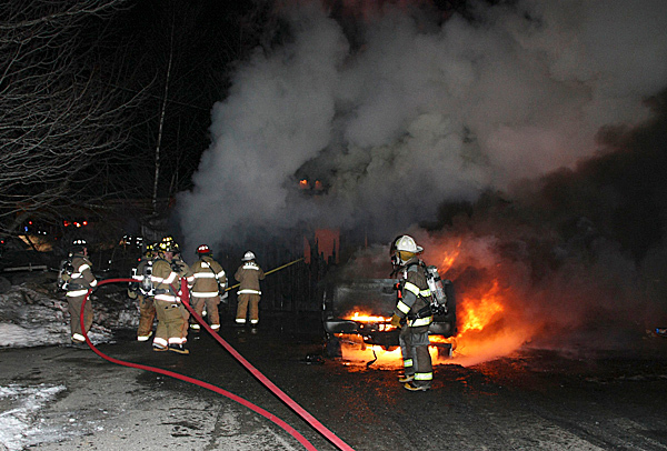 The Rockland Fire Department was called for mutual aid to a garage fire in South Thomaston at 19 Island Rd. Pictures submitted by Alan Athearn. Picture credits: Courtesy of Rockland Fire Department