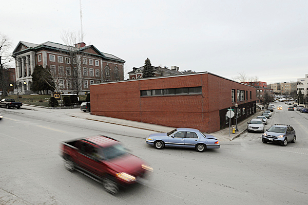 The old Third District Court site, at the corner of Hammond and Franklin Streets, might be home to a future Bangor post office. Behind it (on left) is the former Penobscot County Courthouse Photographed Wednesday afternoon, February 10, 2010. BANGOR DAILY NEWS PHOTO BY JOHN CLARKE RUSS