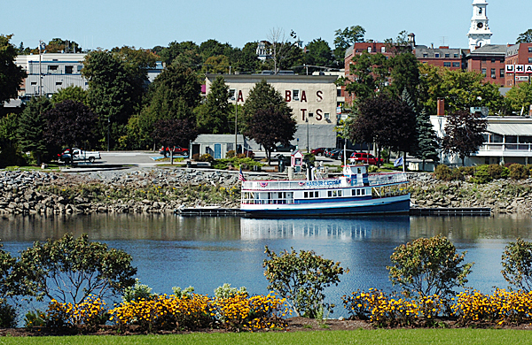 The Bangor Waterfront including the cruiseboat &quotPatience&quot are seen from the Brewer side of the Penobscot River on the first day of fall Monday, Sept. 22, 2008. BANGOR DAILY NEWS FILE PHOTO BY BRIDGET BROWN