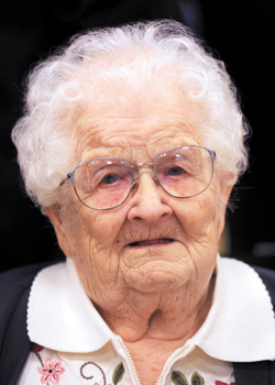 Major Eva M. Price. Image taken on Tuesday, November 10, 2009 at a ceremony honoring her service as a WWll nurse. Eva is 100 years when this image was taken. Her date of birth is 1-21-1909.