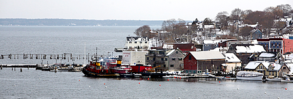 The town of  Belfast, Maine, is seen on Wednesday, Feb. 11, 2009.A report by the Washington Regional Threat and Analysis Center says radioactive materials and instructions for building a &quotdirty bomb&quot were found by detectives investigating the killing of 29-year-old James G. Cummings, the husband of  Amber Cummings, last December.  Amber Cummings has not been charged in her husband's death.  AP PHOTO BY PAT WELLENBACH