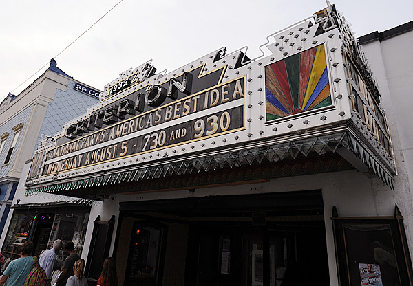 The marquee on the Criterion theater in Bar Harbor as seen on Wednesday, August 6, 2009. BANGOR DAILY NEWS FILE PHOTO BY KEVIN BENNETT