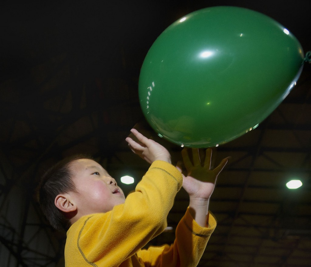 Garrison Zhu generates some energy of his own with aerodynamics at the Engineering Fair at the UMO fieldhouse, Saturday, Feb. 27, 2010.Bangor Daily News/Michael C. York