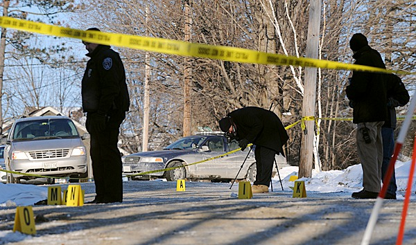 Orono and state police investigate the scene on Middle Street in Orono where they body of Jordyn Bakley, 20 of Camden was found on Saturday morning. BANGOR DAILY NEWS PHOTO FILE BY GABOR DEGRE