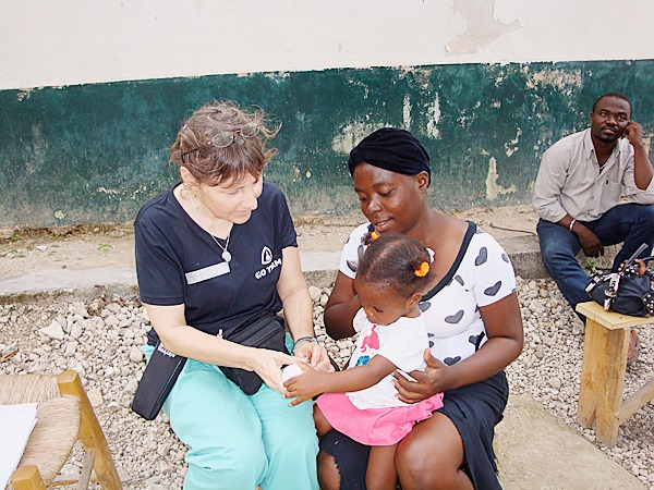 Dr. Beth Sloand in Gressier, Haiti.   PHOTO COURTESY OF BETH SLOAND