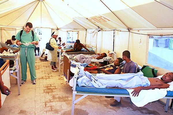 The adult hospital ward in Haiti. PHOTO COURTESY OF BETH SLOAND