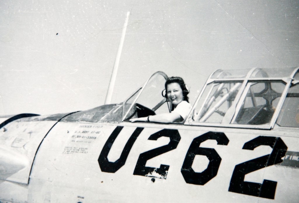 Paradis sits in the cockpit of a plane while she served in the WASP program in 1944. (Phyllis Paradis) (PHOTO COURTESY OF PHYLLIS PARADIS)