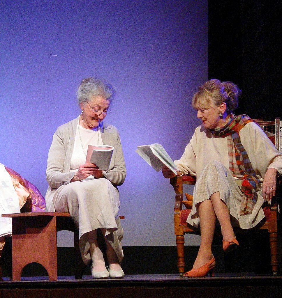 Documentary filmmaker Veronica Young participates in a dramatized reading of Edward Albee's 'Three Tall Women' at the Stonington Opera House. Originally born to British parents in England, Young's family emigrated to Australia after World War II in search of a better life. As an adult, Young returned to England where she worked for the BBC before moving to America to make films. Today, Young lives with her husband in East Blue Hill and works in Stonington for the Penobscot East Resource Center, an organizations which seeks to preserve a future for fishing communities in Eastern Maine. (PHOTO COURTESY OF STONINGTON OPERA HOUSE) Bridges story