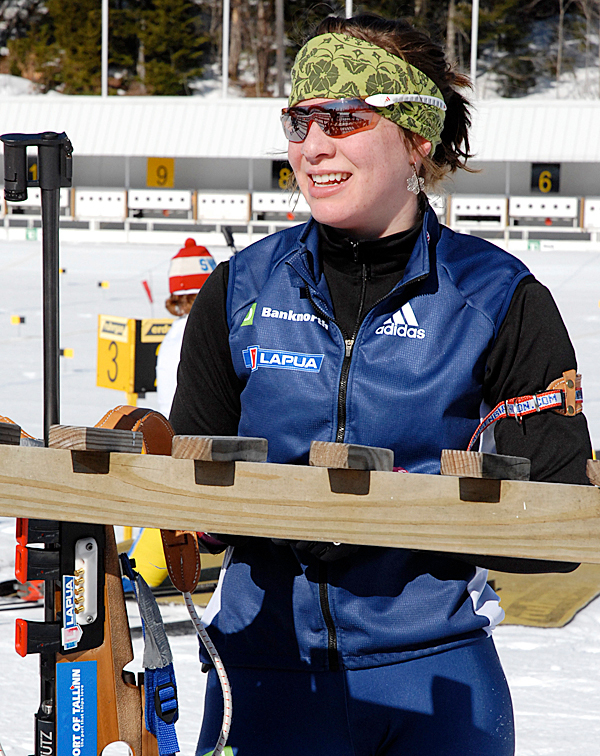 Grace Boutot is skiing on her hometown course this week as the Fort Kent native participates in the U.S. and North American Biathlon Championships starting today at the 10th Mountain Lodge. PHOTO BY JULIA BAYLY
