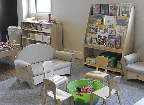 Books, child sized tables and chairs, toys and comfortable sofas and chairs to beckon readers are just some of the features in the newly renovated and reopened Wintergreen Arts Center in Presque Isle.The arts center, which opened in 2006 at the Aroostook Centre Mall, celebrated its grand opening at a new location on State Street on March 6 after being closed except for a few events during a more than year long renovation. BANGOR DAILY NEWS PHOTO BY JEN LYNDS
