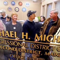 GOP challenger pushes Michaud for debate on health care plan