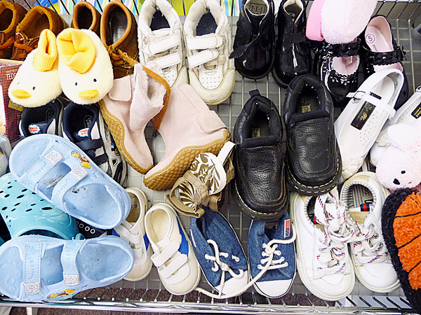 Shoes are just one of the hundreds of items that the Wee Care Community Baby Center in Machias provides for children under four. The non-profit, which is not supported by any state or local funds, supplies diapers, food, clothing and referrals to mothers from Cherryfield to Perry. &quotOur goal is to just help people that need it,&quot founder Joyce Getchell said.  BANGOR DAILY NEWS PHOTO BY SHARON KILEY MACK
